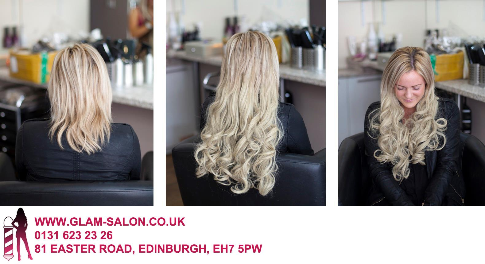 One piece clip in extensions 20 glamsalon before after one piece clip in extensions at glam salon pmusecretfo Images